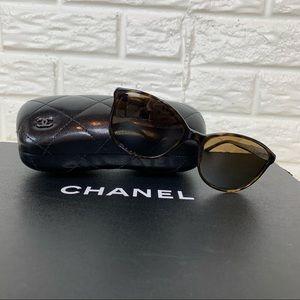 CHANEL butterfly polarized tortoise shell sunglasses